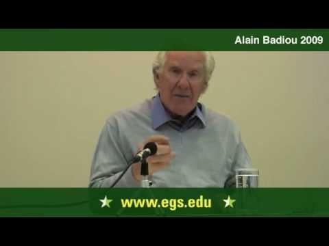 Alain Badiou. The Event as Creative Novelty 2009 1/13