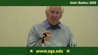 Alain Badiou. The Event as Creative Novelty 2009 1/13