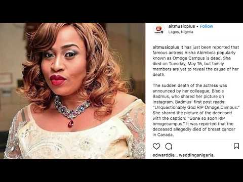 TRIBUTE TO LATE ACTRESS AISHA ABIMBOLA {OMOGE CAMPUS}