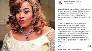 TRIBUTE TO LATE ACTRESS AISHA ABIMBOLA OMOGE CAMPUS