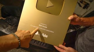 STOLE WILL SMITHS GOLD PLAY BUTTON
