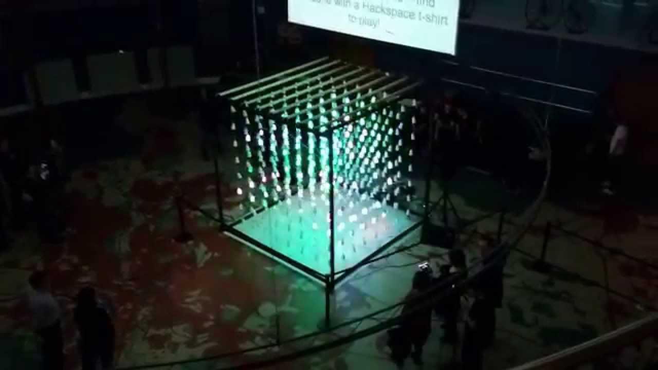 hackspace cubed 3d led cube 4m interactive light patterns youtube. Black Bedroom Furniture Sets. Home Design Ideas