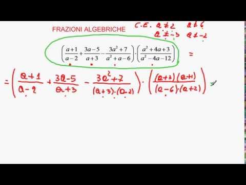 condizioni di esistenza e semplificazione di frazioni algebriche from YouTube · Duration:  10 minutes 55 seconds