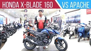 Honda X-Blade 160 vs TVS Apache RTR 160 4V - Detailed Comparison Review
