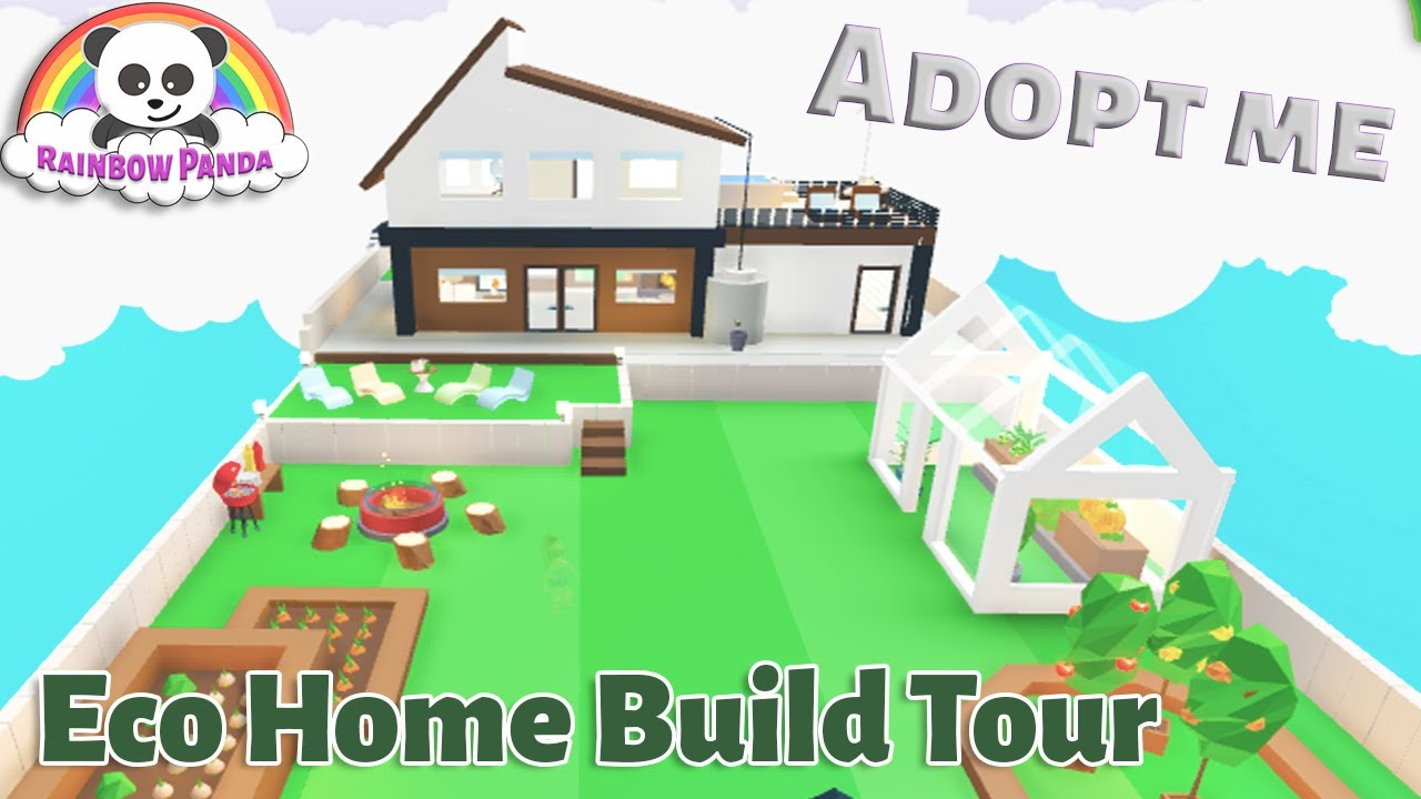 Adopt Me Builds I Eco Home And Garden Glitch Build Youtube