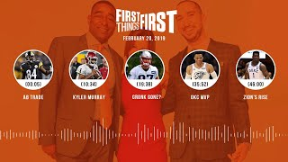 First Things First audio podcast (2.20.19)Cris Carter, Nick Wright, Jenna Wolfe | FIRST THINGS FIRST