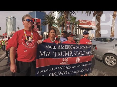 Trump hotel workers in Las Vegas ask billionaire for fair pay | US Elections 2016