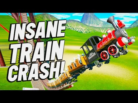 Planet Coaster Creations : INSANE TRAIN CRASHES!!
