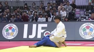 Judo Grand-Slam Osaka 2018. [-66 KG] ABE Hifumi (JPN) vs. YONDONPERENLEI Baskhuu (MGL)