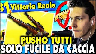 """👉 PUSHO ALL ONLY with CACCIA FUCILE """"CHALLENGE"""" ! FORTNITE ITA """"Real victory?! *"""