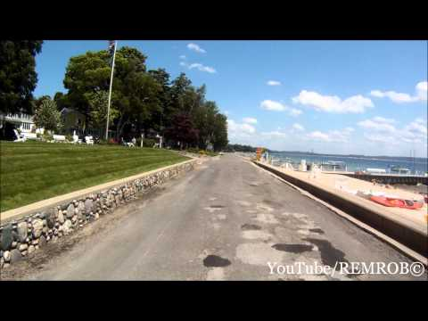 Driving West on Beach Drive, Harbor Springs, MI.