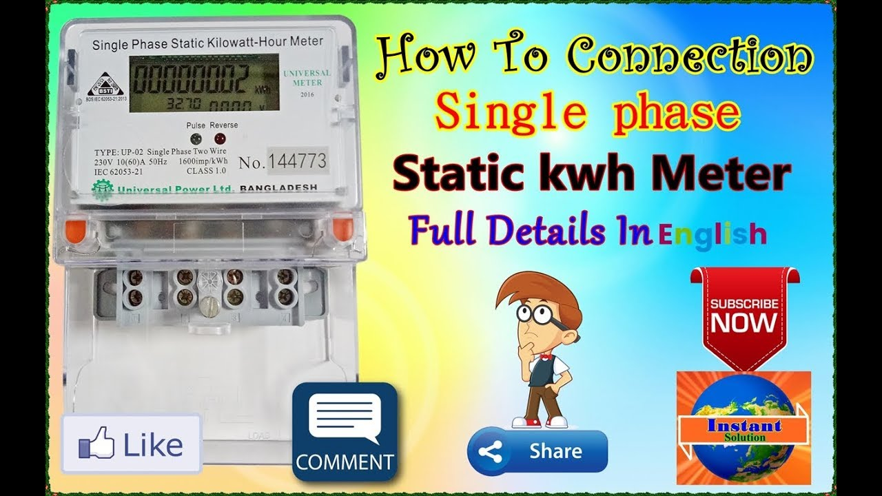 Meter Wiring Connection Trusted Diagrams Hour Diagram Sub In Home Single Phase Electric