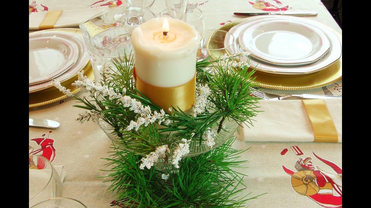 Arreglo floral para navidad decorar la mesa para las - Decorar la mesa de navidad ...
