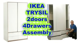 Repeat youtube video IKEA Wardrobe TRYSIL sliding doors 4 drawers