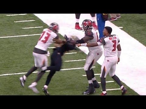 Mike Evans Shoves Marshon Lattimore Leading to HUGE Fight | Bucs vs. Saints | NFL