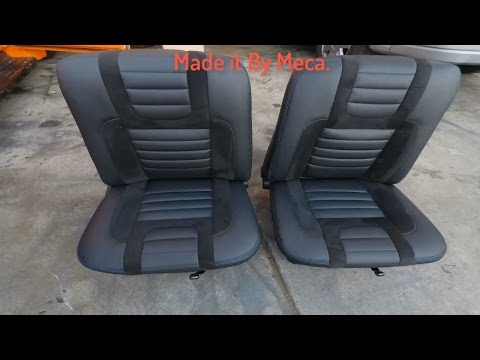 Re-upholster  Custom Ford Mustang Seats From vinyl and suede