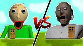 CASA BALDIS vs CASA GRANNY NO MINECRAFT !!