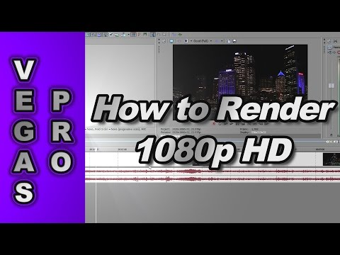 Sony Vegas Pro 10: How to Render 720p & 1080p HD Video for YouTube