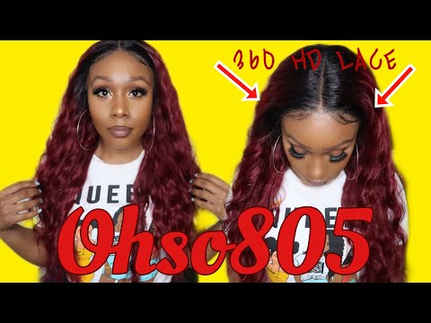 HD Lace On A Synthetic 360 Wig 🧐 MAGIC LACE SKIN MELT INVISIBLE HD LACE WIG | Lace Wig New Deep
