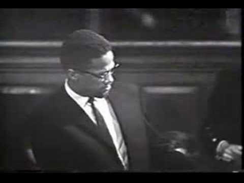 Malcolm X Giving a Speech