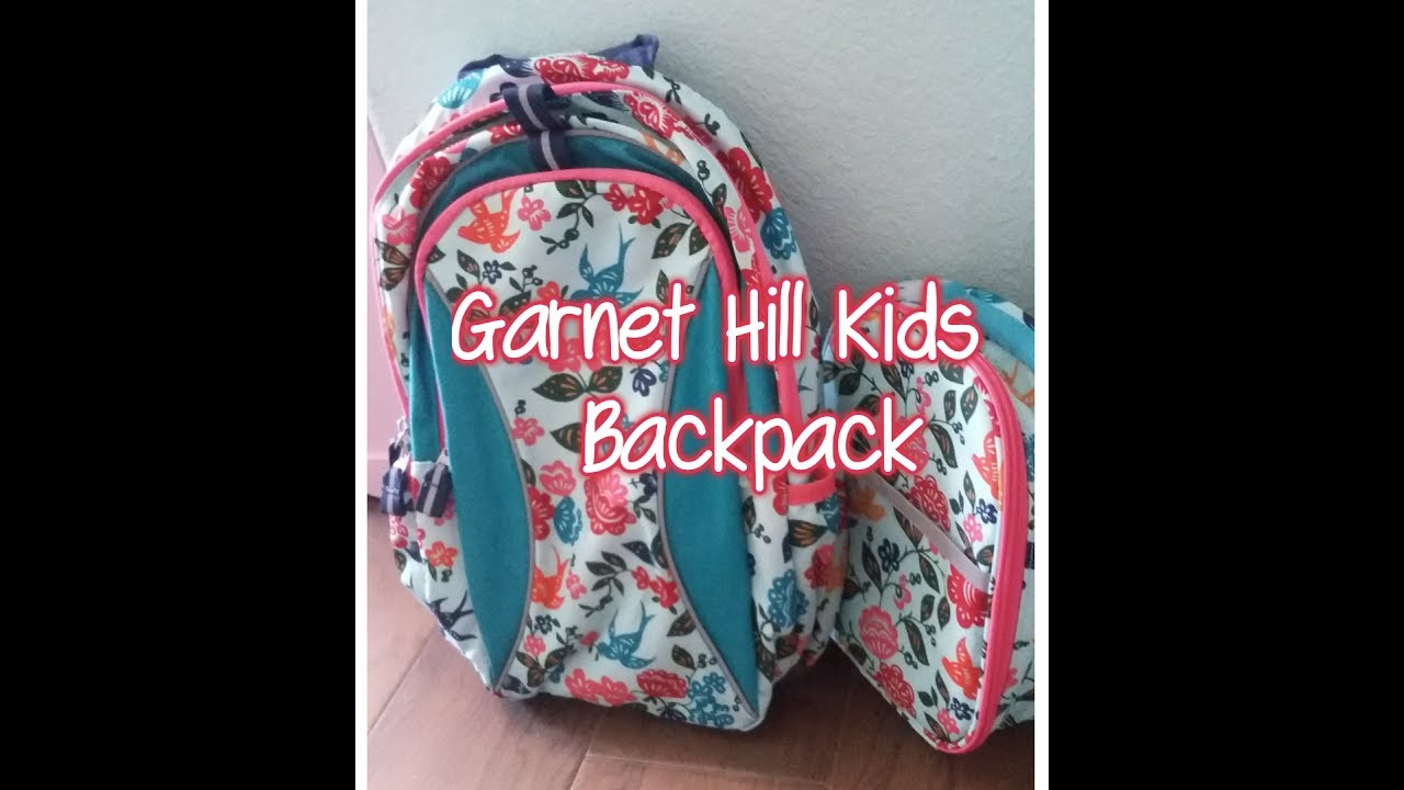 Garnet Hill Kids Signature Backpack Unboxing Review 2017