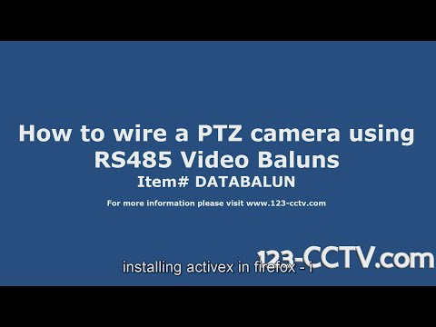 How to connect a PTZ camera using RS485 Video Baluns