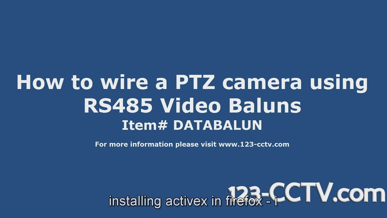 How To Connect A Ptz Camera Using Rs485 Video Baluns Youtube 485 Wiring Connection Diagram