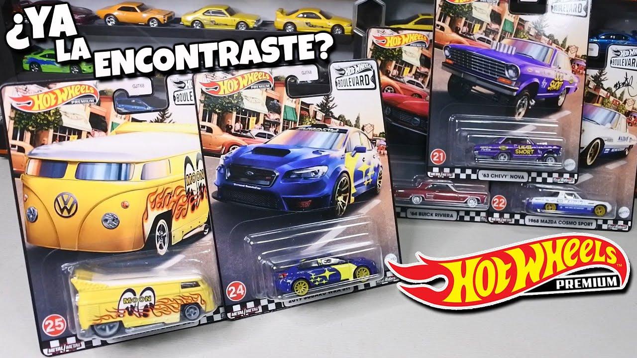 Listos para la caceria - Hot Wheels Premium Boulevard Volkswagen Drag Bus, Subaru, Mazda, Chevy Nova