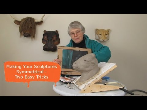 Making Your Sculptures Symmetrical - Two Easy Tricks