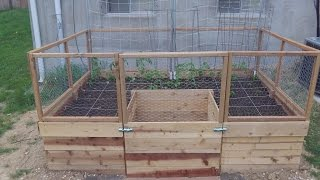 Around The Home: #25 Building A U Shaped Raised Bed Part 2