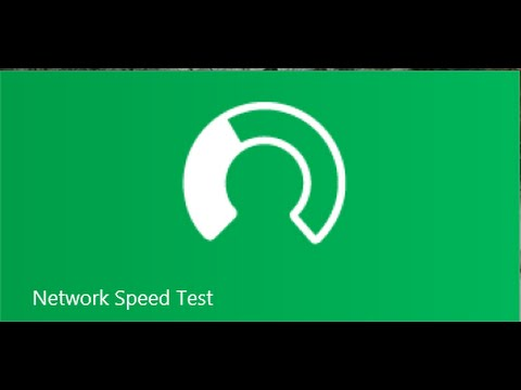 Random APP of The Day For Windows: Network Speed Test