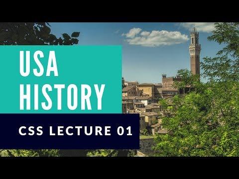 USA History | World History | CSS PMS Preparation | In Urdu - Hindi