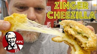 Is the New KFC Cheezilla Burger Just A Zinger Mozzarella in Disguise? Greg's Kitchen Food Review