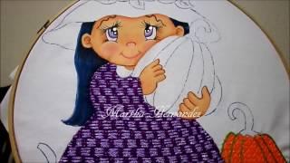 Repeat youtube video Bordado Fantasia Vestido Niña Brujita