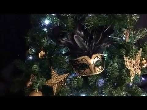 Decoration sapin de noel noir