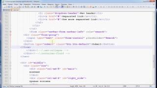 Видео урок 5 - html верстка формы поиска в меню сайта navbar bootstrap