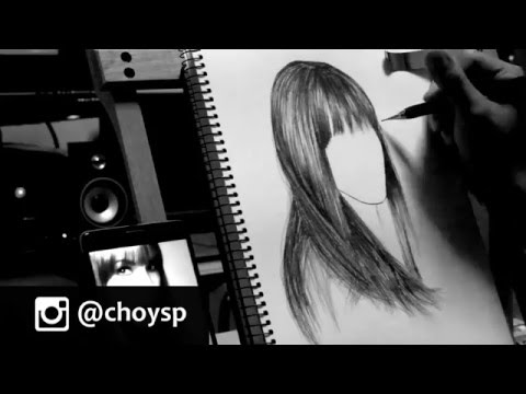 Drawing Hair in 2 Minutes