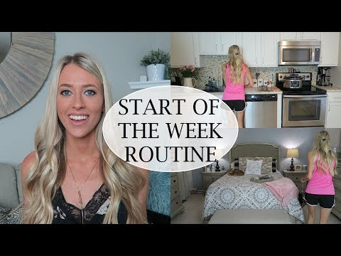 Start Of The Week Cleaning Routine | After The Weekend Cleaning Motivation | Erica Lee