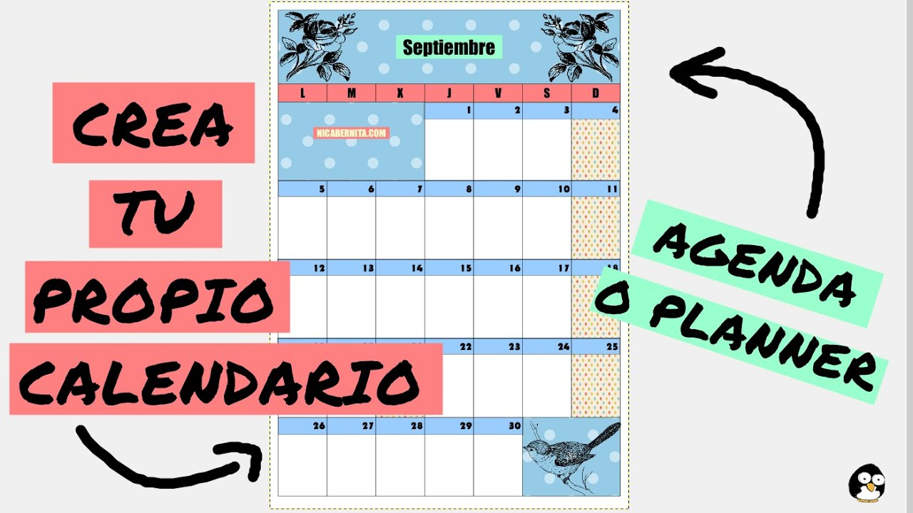 Como Hacer Un Calendario Para Imprimir Planificador Mensual O