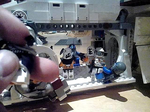 Lego starwars  gunship in der Luft deutsch