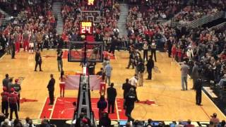 Soldier Returns Home To Surprise Wife At Bulls Game