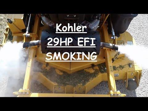 29 HP Kohler Command PRO EFI Smoking