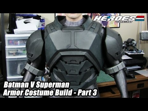 Batman Armor Foam Cosplay Progress - Dawn Of Justice Part 1