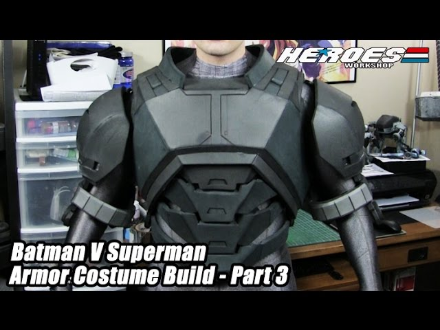 Batman Armor Foam Cosplay Progress - Dawn Of Justice Part 1