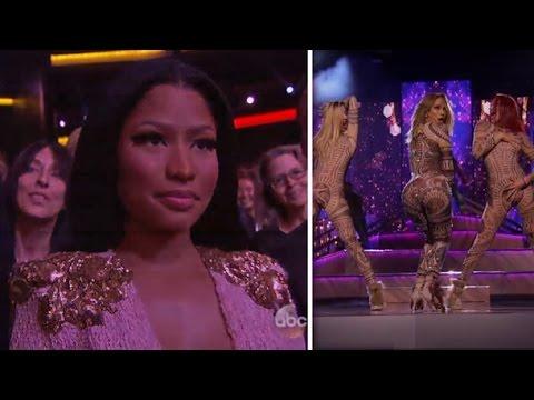 Jennifer Lopez Performance Anaconda Nicki Minaj During American Music Awards Performance