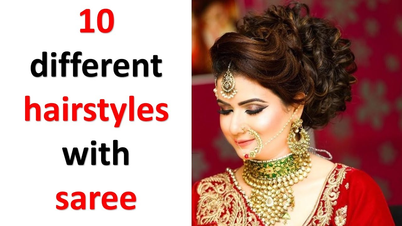 10 Beautiful Hairstyles With Saree Simple Hairstyles
