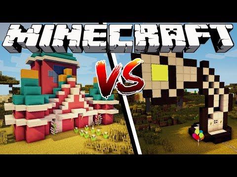 DISNEY HOUSE VS PIXAR HOUSE - Minecraft
