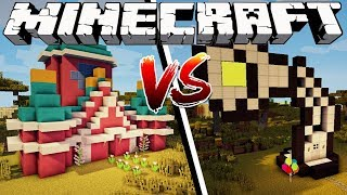 disney-house-vs-pixar-house-minecraft