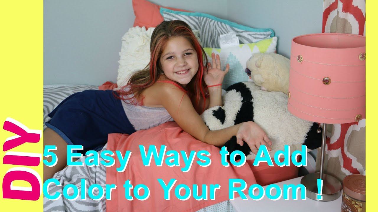 5 diy room decor easy ways to add color to girls for Stuff for girls room