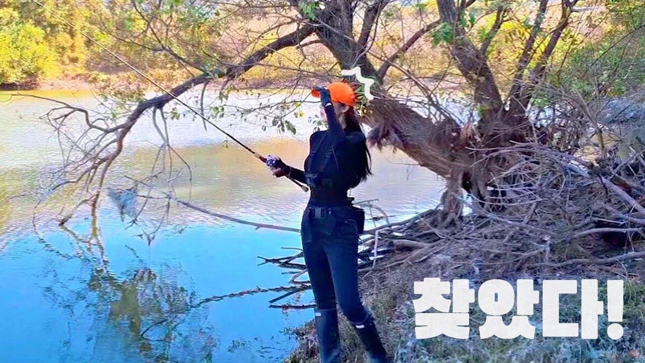 [SUB] 찬바람이 부는 가을, 배스야 여기야, 여기! autumn bass fishing! 낚시!